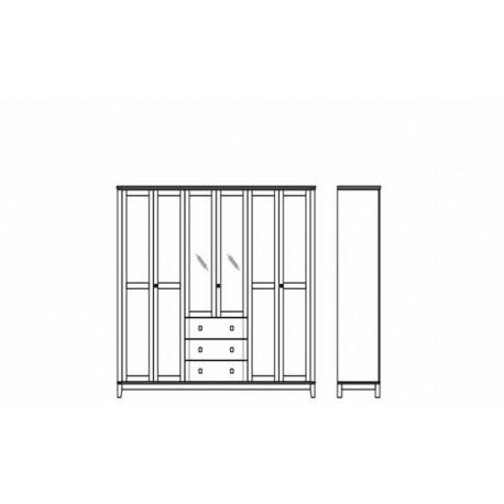 Szafa 6 drzwiowa SZ-0027