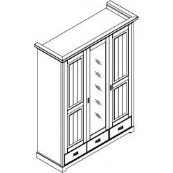 Szafa 3 drzwiowa