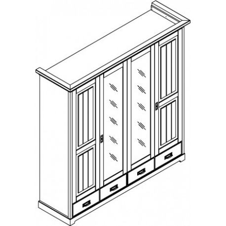 Szafa 4 drzwiowa
